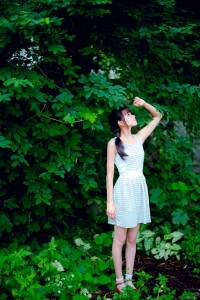超清新氧氣美女!看到她彷彿就呼吸到森林裡的新鮮空氣一樣!