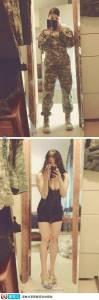 脫掉衣服後的女大兵,竟是這樣的....