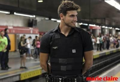 天啊帥爆了!巴西地鐵警衛比男模還hot!根本引誘人犯罪│Marie Claire 美麗佳人
