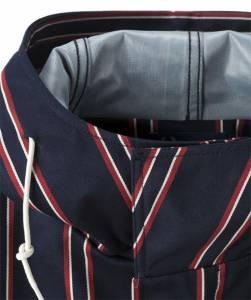 經典英倫品牌 FRED PERRY 直條紋軍裝短版大衣