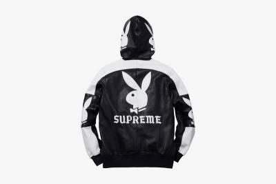 黑白潮流風 Supreme x Playboy 2014春夏皮革外套