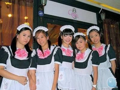 各國女僕咖啡廳裡的女僕照比較