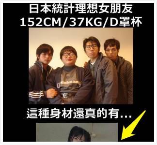 日本男性,「最理想女生標準」——152CM 37KG D罩杯