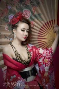 浮世尤物 學生制服 豹紋與和服的性感結合│尤物雜誌