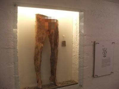 冰島文物:死人皮做的褲子,據說能帶來財富和好運