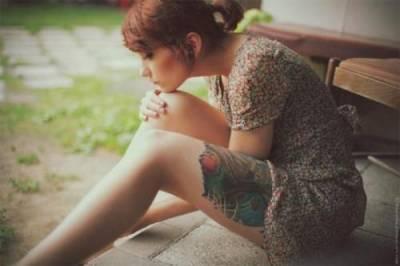 超有個性美的刺青美女