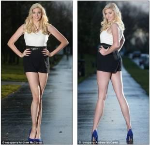 英國模特的大長腿長過俄羅斯長腿小姐