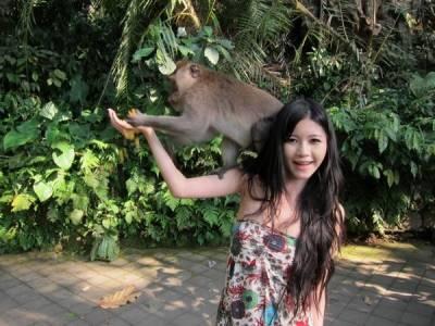 另類為國爭光?!台灣巨乳妹露奶猴抓 登上英國媒體