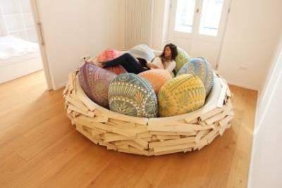 鳥巢型廢人專用沙發
