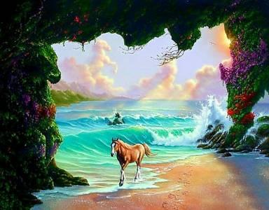 圖片中有3匹馬,你找得到幾匹呢?不要說一匹喔!!