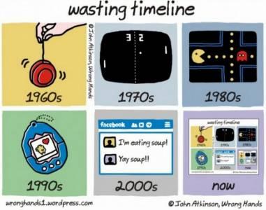 各年代的人浪費時間方式 看到現代我罵了一聲幹