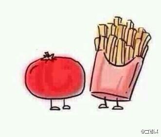 沒有誰和誰一開始就很相配,當蕃茄愛上馬鈴薯,最後他們變成絕配!猜一種食物