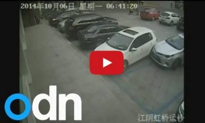 「瞎咖」駕駛 停個車10分鐘撞鄰車數十次