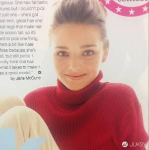 米蘭達第一次登上雜誌封面 那一年她才 13 歲