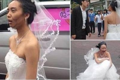悲劇了!準新娘測試男友真心 扮70歲老太婆穿婚紗當場被甩