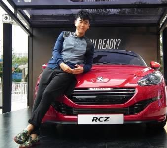 """微熟型男""""柯有倫""""為新款跑車RCZ R 擔任試乘大使 與歌迷浪漫試乘│種子音樂"""