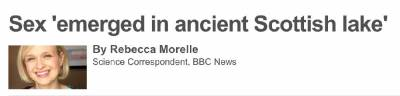 科學家蘇格蘭湖裡找到了世界上最早學會交配的動物…..方式真的太...神奇了!