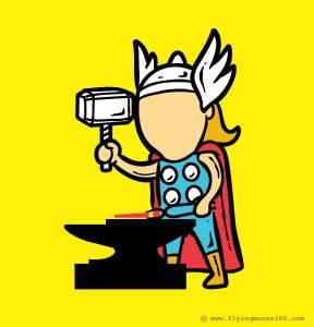 趣圖:超級英雄的副業