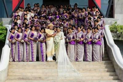 婚禮陣仗破金氏紀錄:126位伴娘+25位伴郎+43個花童
