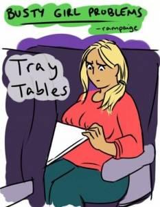 真的很困擾呀...大胸部女生很不方便,請不要再羨慕