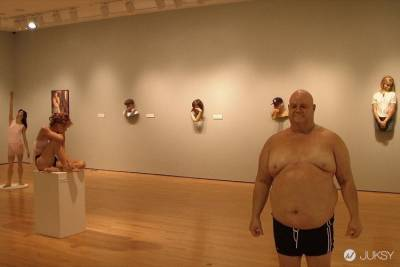 這是恐怖蠟像館嗎?! 超擬真人體雕塑