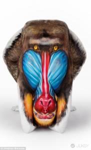 別以為來到動物王國 這些驚人作品都是由「人體」完成