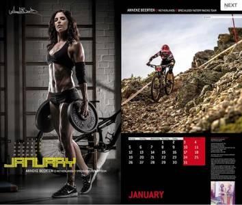 2015單車美女月曆 力與美的完美展現