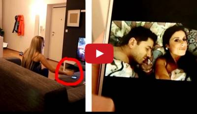 女友發現我偷情的照片了...電視被打爆瞬間我淌血