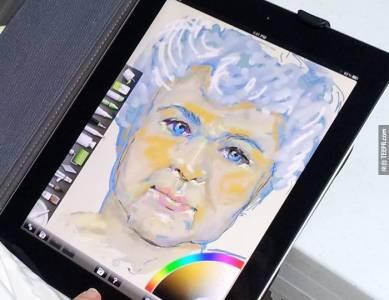 幫阿嬤買了一台ipad 結果她在上面畫了......