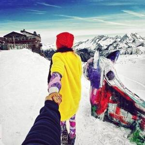 「跟著女友走世界」系列照片中女孩正面揭曉了!這系列照片太讚了!!