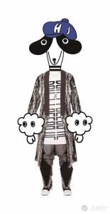 誠品生活服飾品牌AXES時尚櫥窗藝術展 插畫人物MARKO 部落客JUDY CHOU示範穿搭