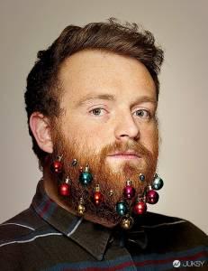 聖誕樹搬上「臉」?英倫最新時尚-裝點大鬍子