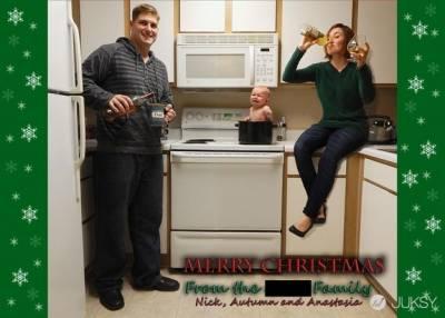 保證你收到這些「自製聖誕卡」時 無法打從心底覺得溫馨...