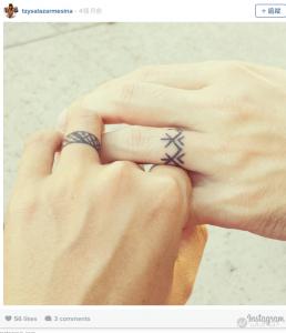 鑽石婚戒out!成對的「刺青戒指」才是歐美主流