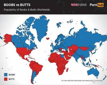 你重視胸部還是臀部?全球喜好分布圖一探究竟