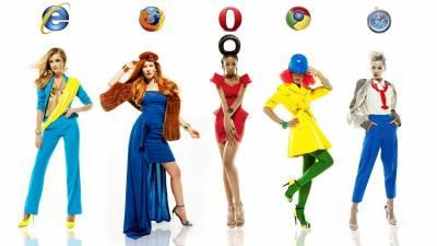 如果IE Firefox Safari是時髦女孩她們會怎麼穿呢?LA時尚攝影師的科技幻想作