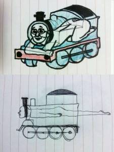 其實湯瑪士小火車...看起來真的很可怕!