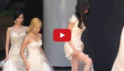天啊!超害羞的!少女時代徐玄走紅毯竟從裙子裡掉出白色私密物..!!!