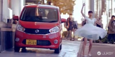 Nissan 汽車廣告 瞬間換衣不是特效!路人嚇呆