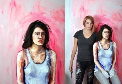 我以為這只是普通的畫作,沒想到仔細一看竟然是…這真是太酷了!!