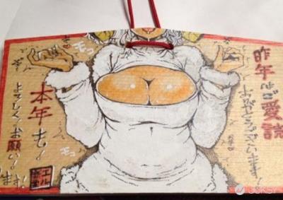 日本神社繪馬大暴走!各種SM 蘿莉畫面 根本兒童不宜阿