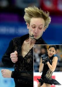 溜冰選手優雅的動作背後 表情也能如此優雅?