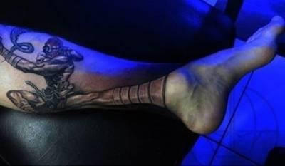 這個刺青超酷!可以一直維持「霸王色三檔 」!!