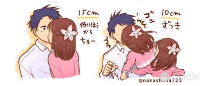 情侶理想身高差是多少?日本插畫家列出「各種功能」供男友選擇