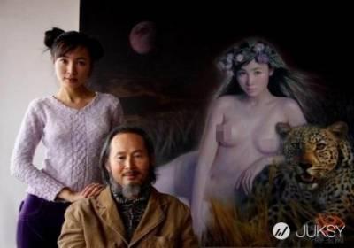 藝術家創作「豐滿裸女」 人體模特竟是自家女兒!