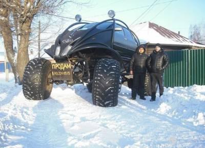 不管做什麼事都是全力以赴的戰鬥民族 自行改造出一台超猛的大腳車