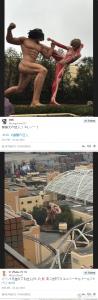 日本漫畫「進擊的巨人」擬真化!環球影城 15 公尺高的巨人也太擬真了......