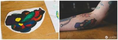 史上最「潮」老爸不買時尚配件 他每年讓兒子把親自設計的塗鴉刺在他手上