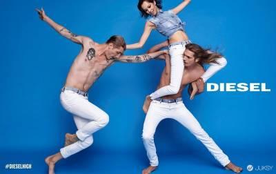 真正開懷大笑的模特們,DIESEL 2015 春夏廣告出街