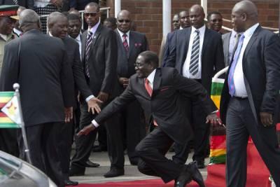 辛巴威強制要求刪除「總統跌倒照」 結果又引發網友 PS 大賽.......